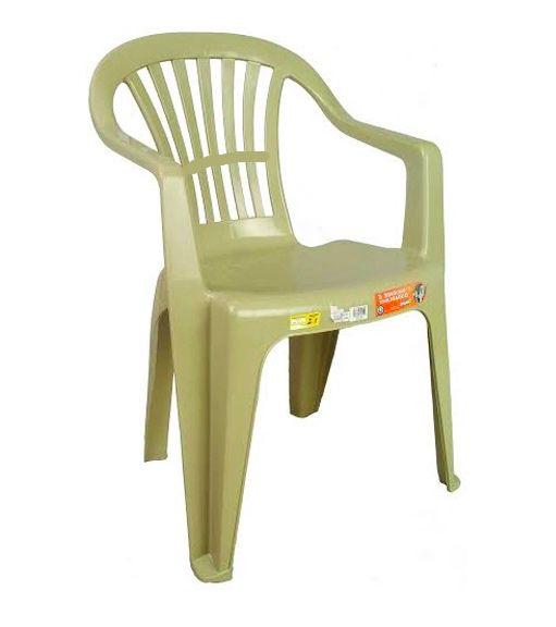 Kit 4 Cadeiras Poltrona 120Kg Plástico Inmetro Boa Vista Ant