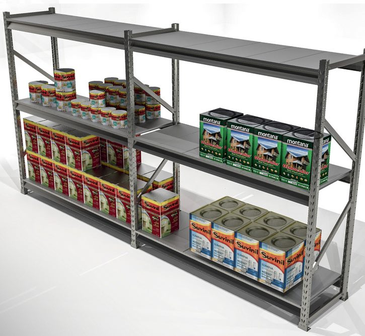 Nivel Bandejas Plano Metalico Porta Pallet Slim 180x60 Sa