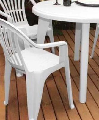 Kit 6 Cadeiras Poltrona 120kg Plástico Inmetro Boa Vista An