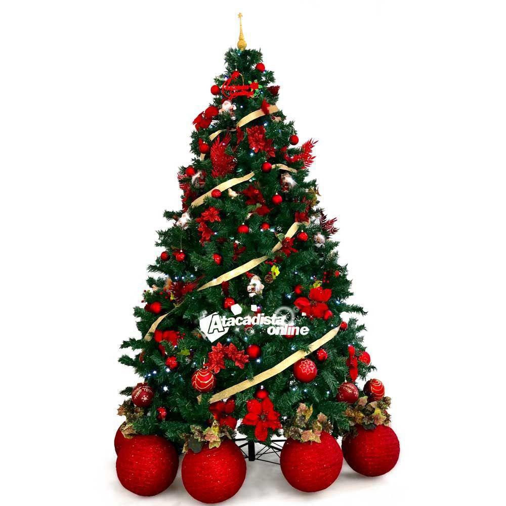 Kit Enfeite Decora Arvore Natal Luxo 17 item 156 Pç 1000 Led