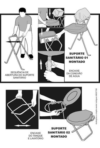 Kit Sanitário Fossa Tenda Barraca Idealy