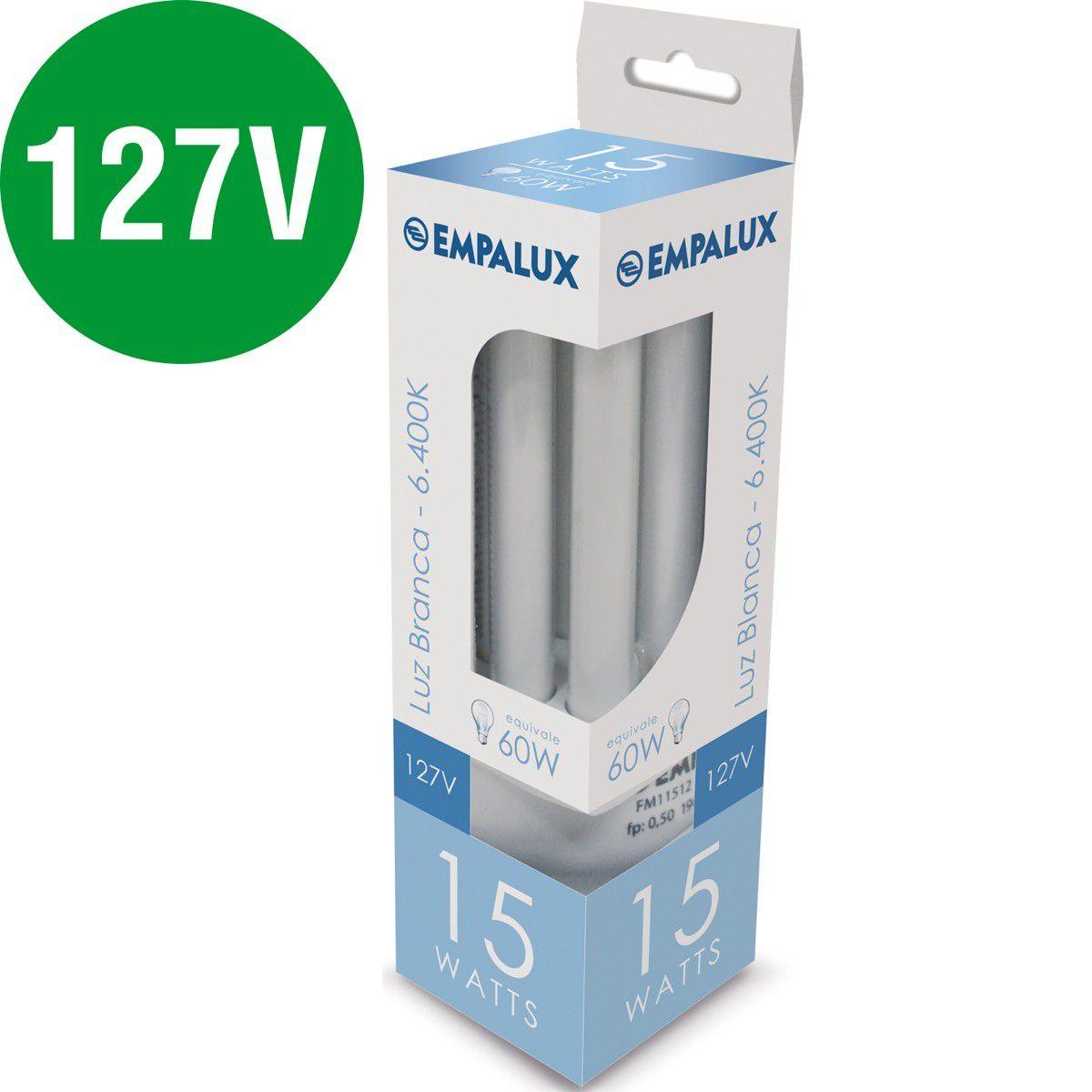 Lampada Fluorescente Super Compacta 15W 127V Empalux Cx/12