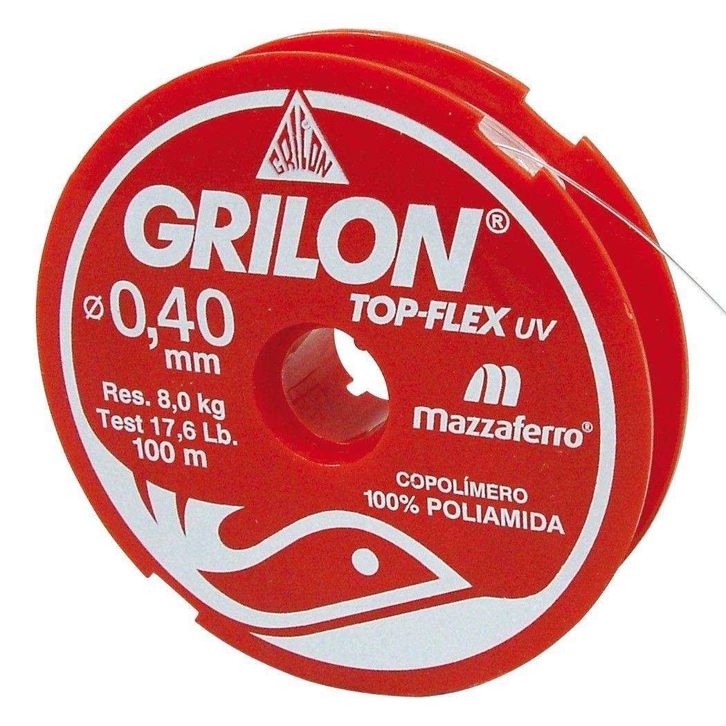 Linha De Pesca Branca Grilon 100M 040 Cx/20