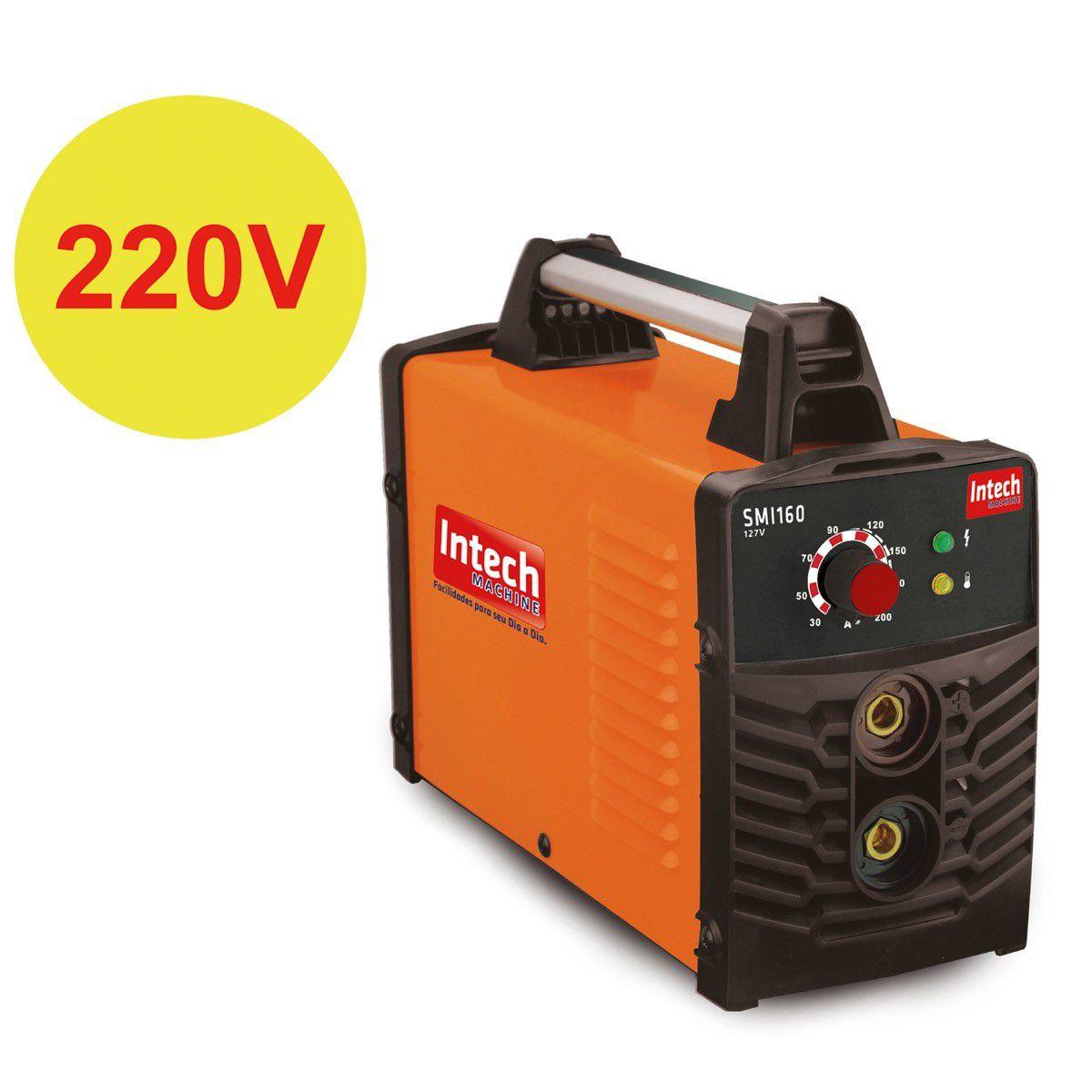 Maquina/Inversor Solda 160A 220V Intech Machine