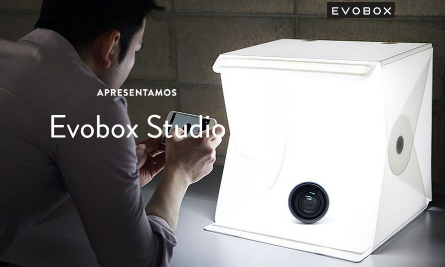 Mini Big Studio Fotografia Evobox 38 Cm Led - Curv