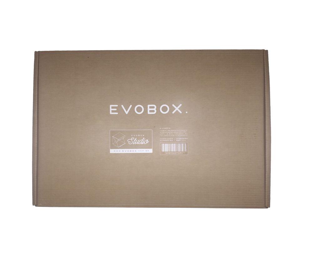 Kit Mini studio Fotografia Evobox Plus 60 + Suporte Celular