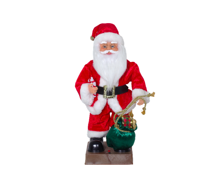 Papai Noel Musical / Movim. Saco Presente 40cm Natal Magizi
