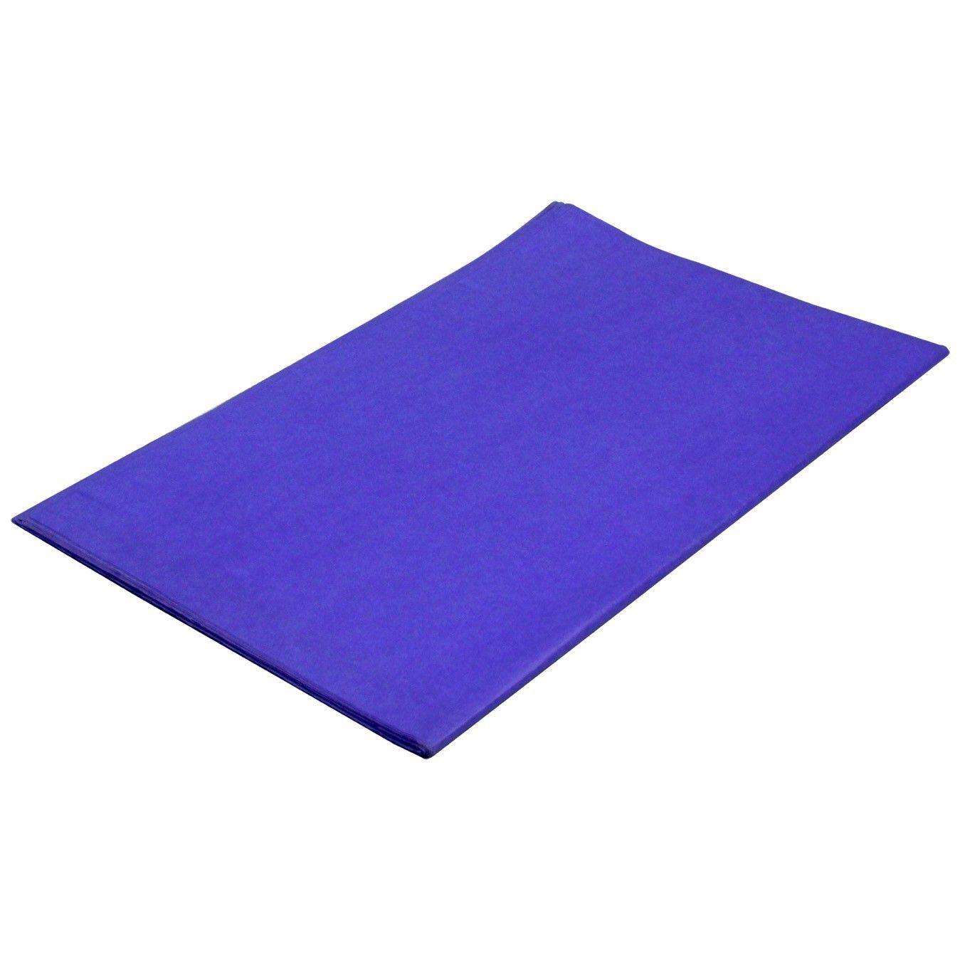 Papel De Seda 48X60 Azul Marinho Pt/100