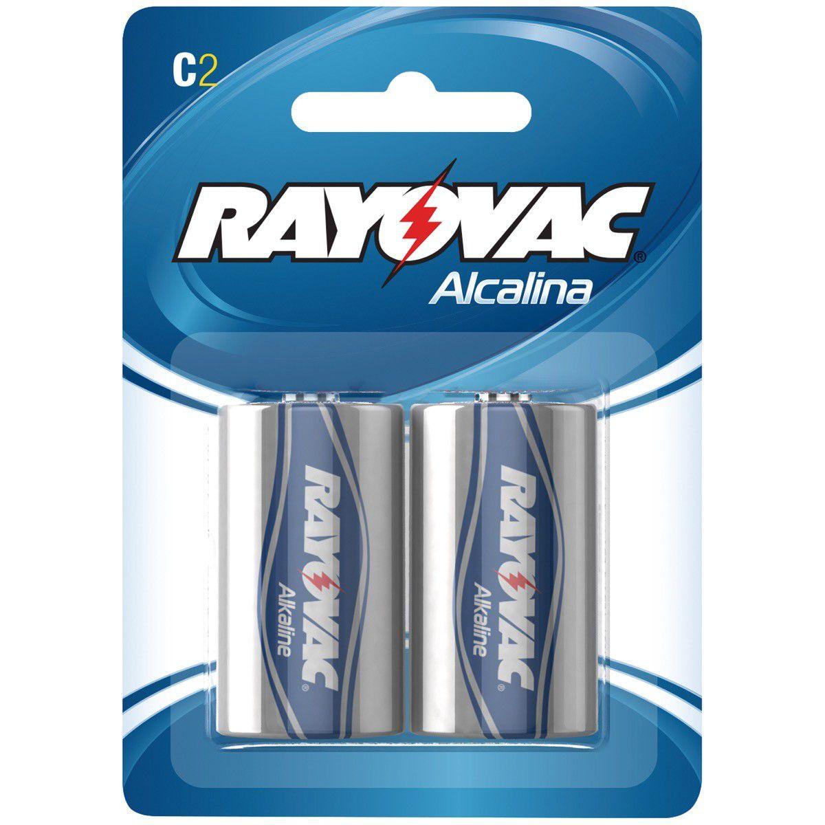 Pilha Rayovac Alcalina Media Cartela Com 2