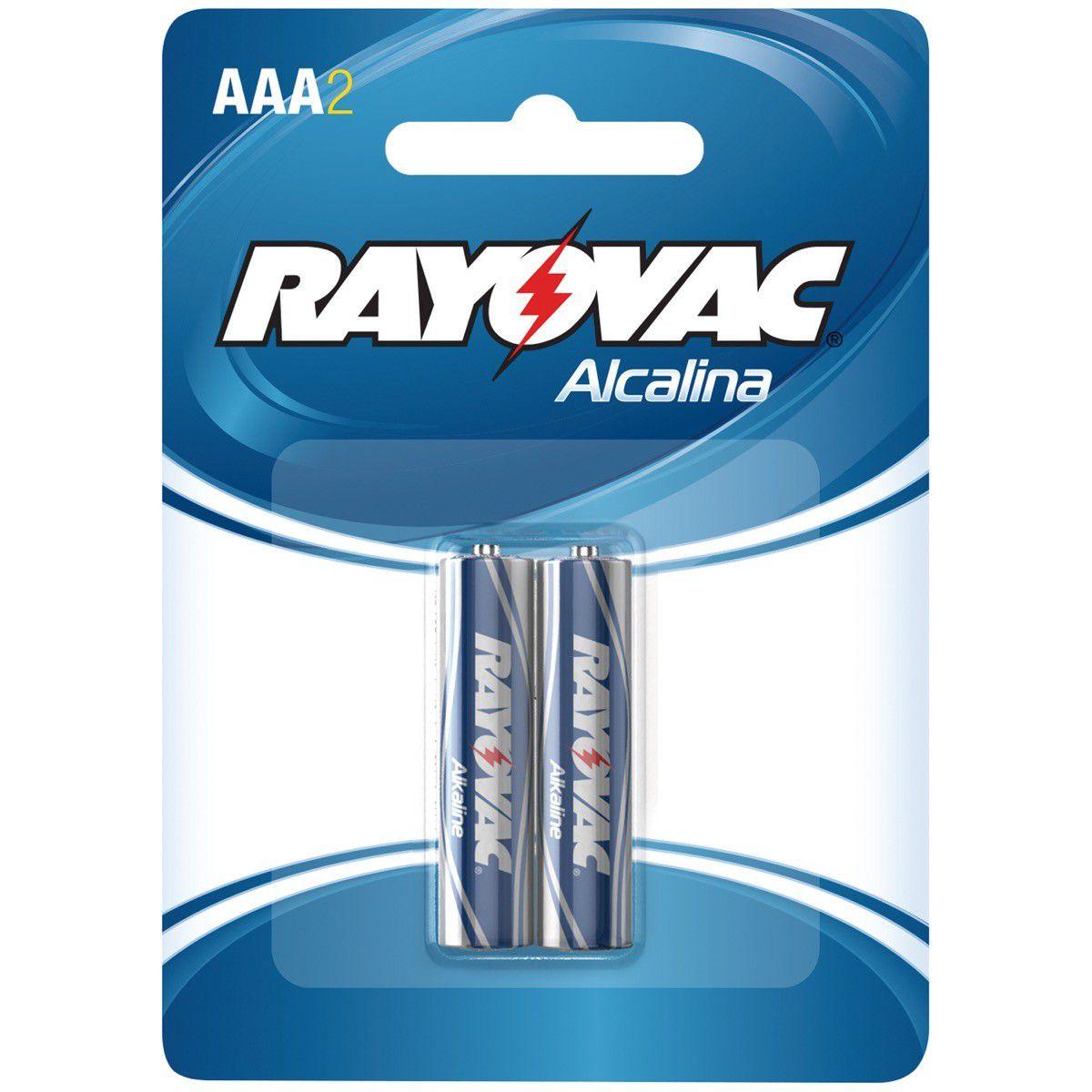 Pilha Rayovac Alcalina Palito Aaa C/2 #N