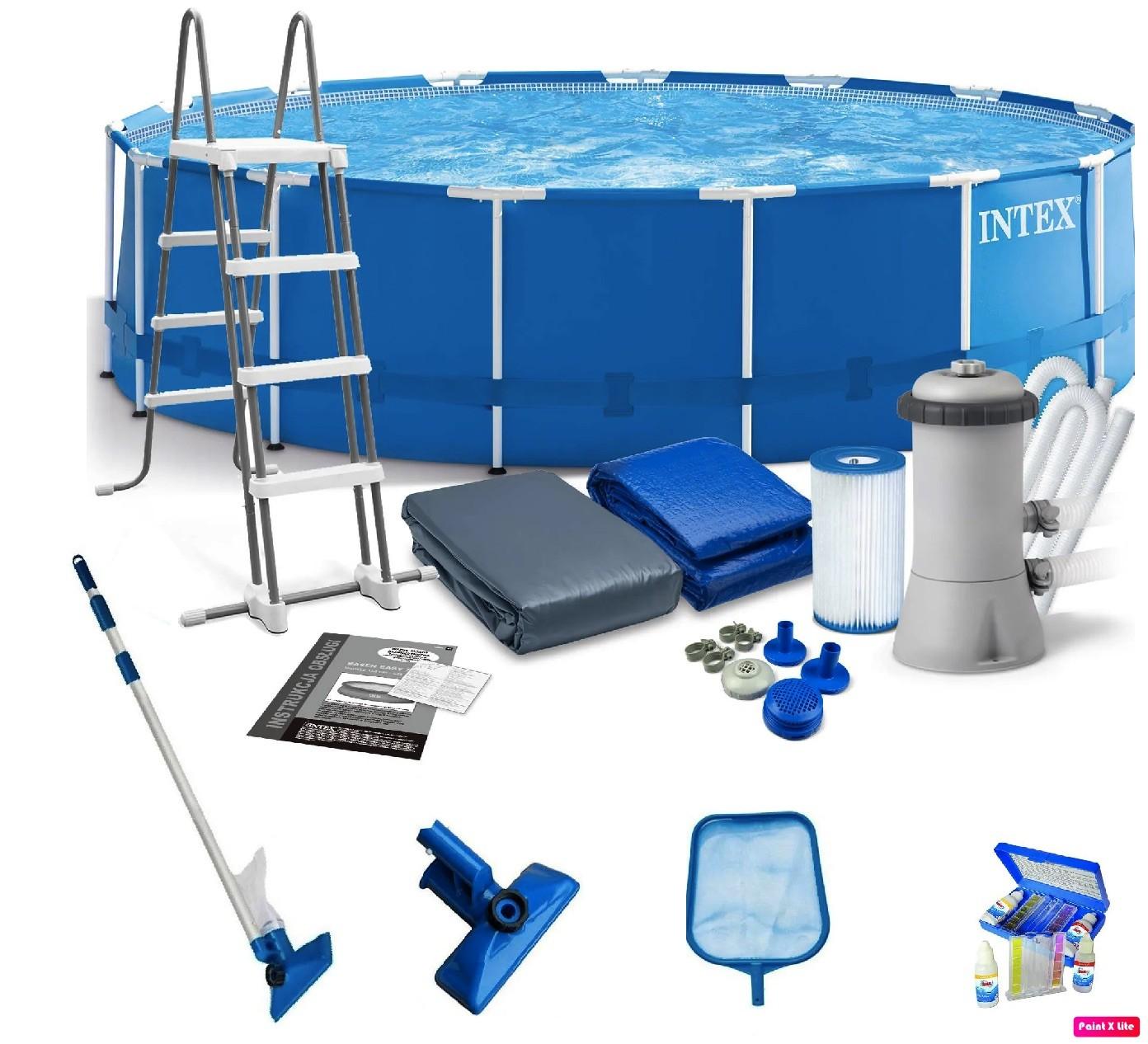 FL- Piscina Estruturada 16805 L Completo + Kit Limpeza  Intex