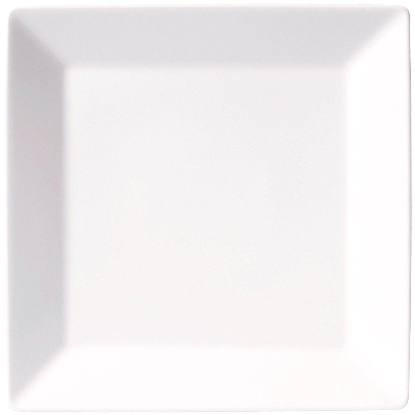 Prato De Porcelana Quartier Branco Raso Cx/12