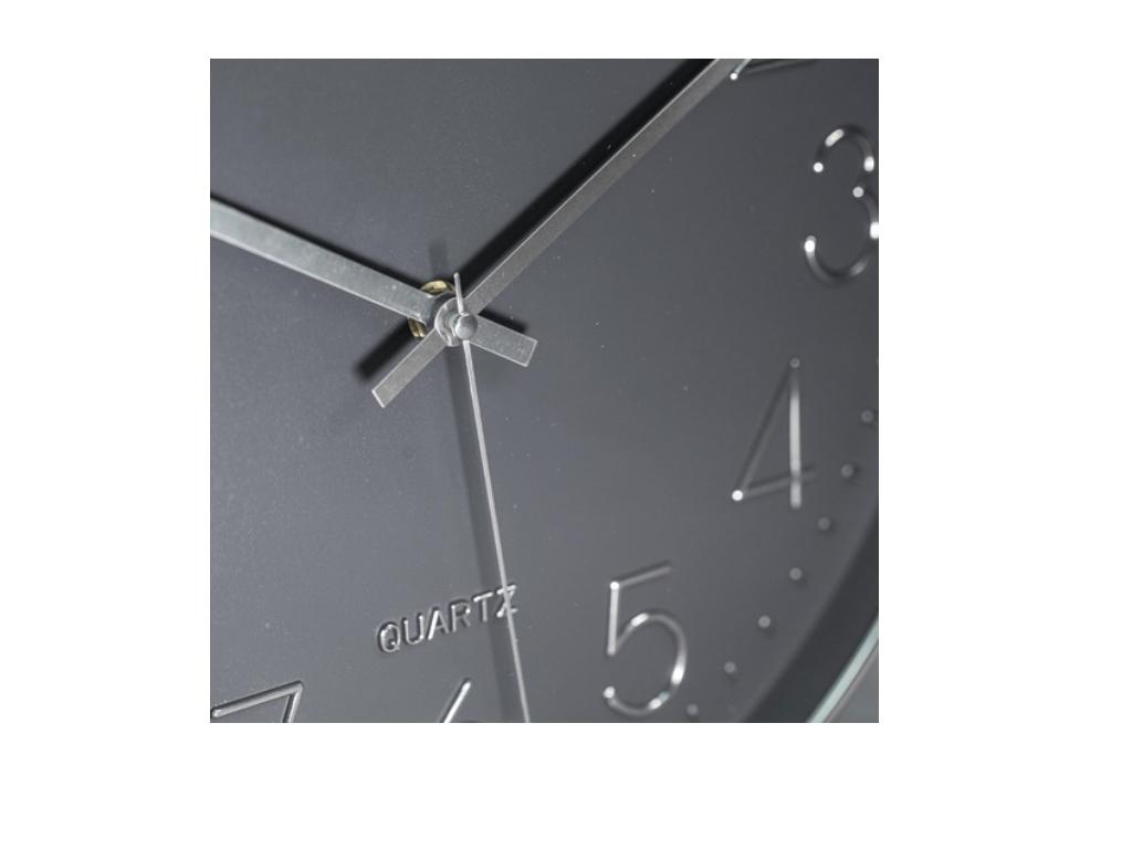 Relogio Parede Cromado Requinte Prata 30 cm