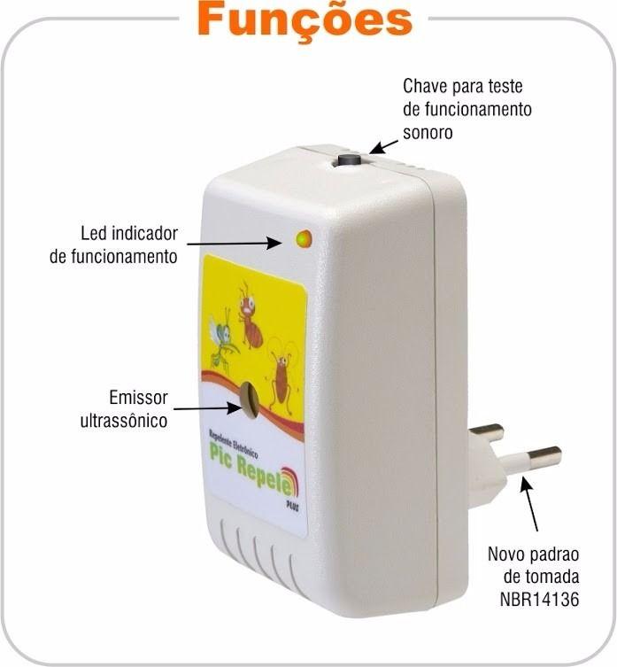 Repelente Eletronico Barata e Formigas127/220V PicRepele Legon