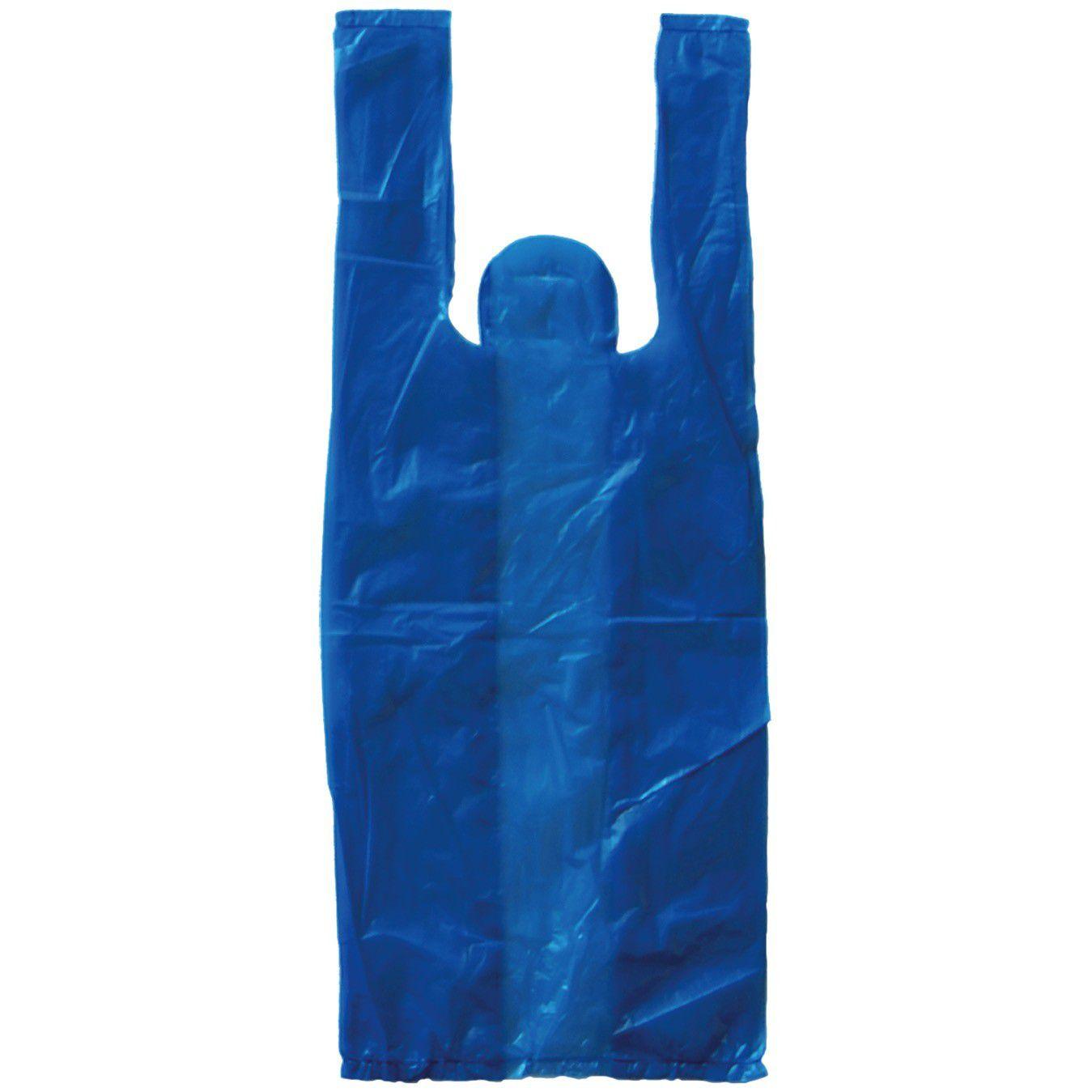Sacola Supermercado Azul 30X40Cm C/500