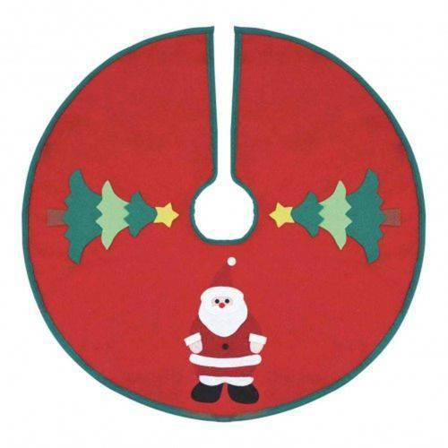Saia de Natal Vermelha Decorada 90 cm Magizi