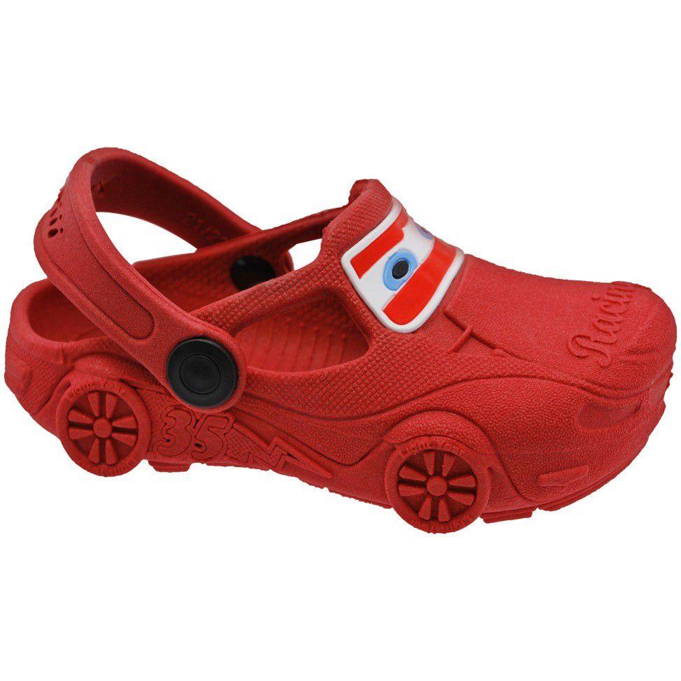 Sandalia Infantil Babuche Carro Vermelha 25/26