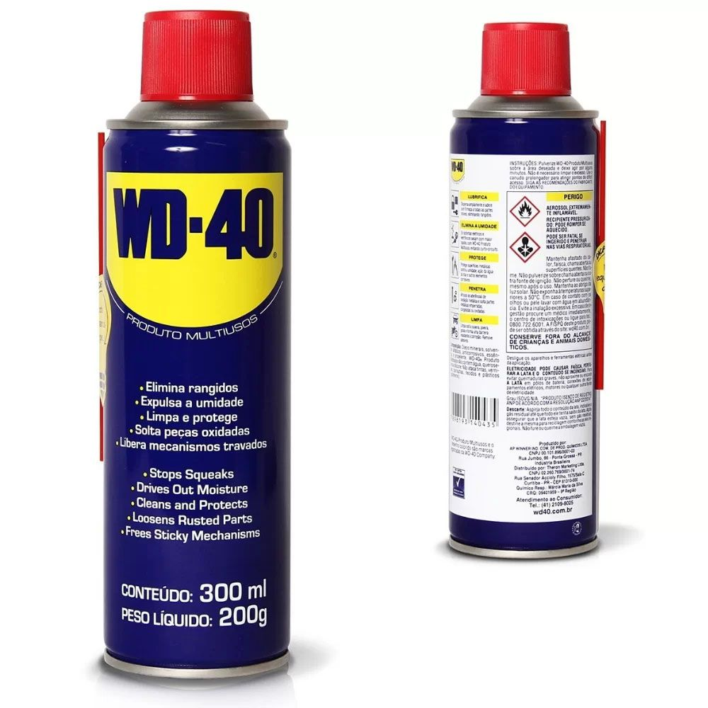 Desengripante Spray WD-40 300ml Multiusos