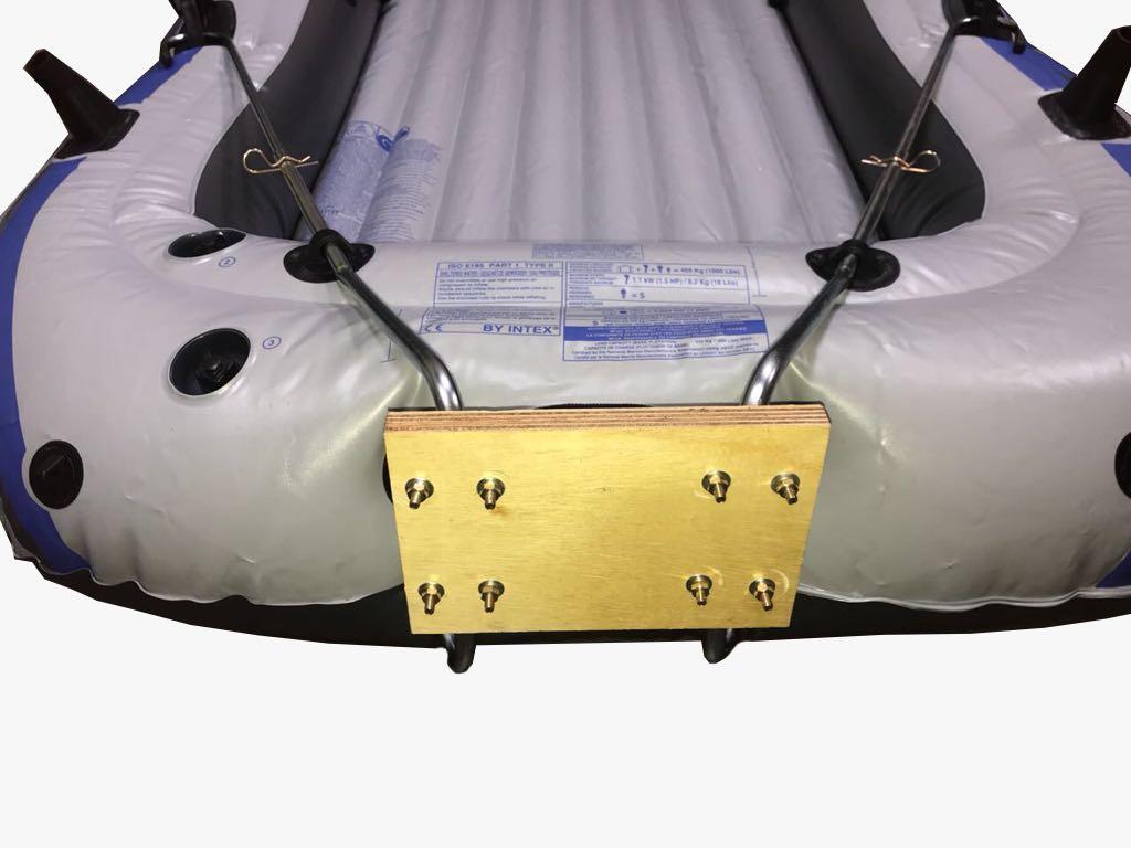 Suporte Motor Bote Inflável  c/ Alongador  Popa Ax