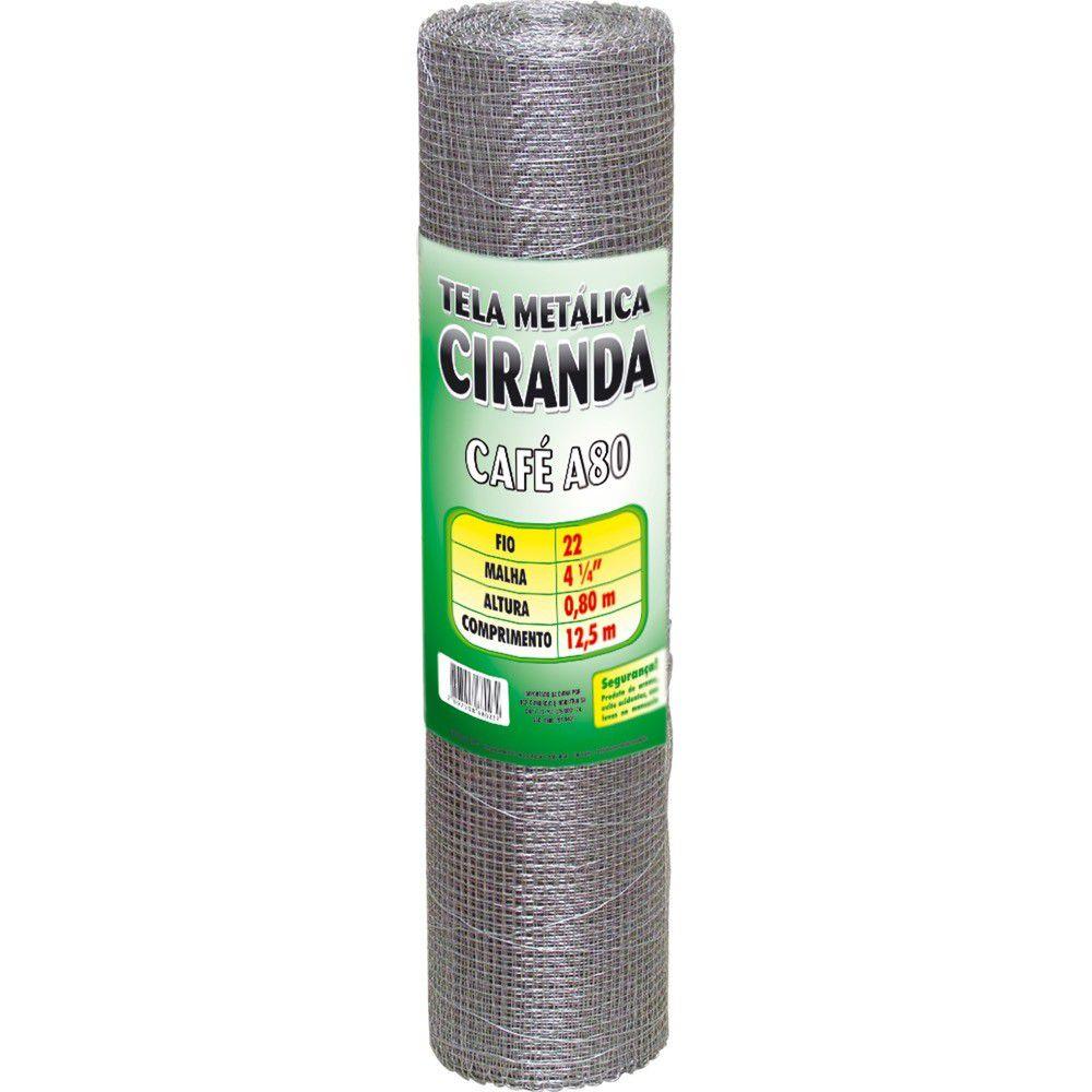 Tela Ciranda Cafe Fio 22 Altura 080 Malha 4,1/4 X 12,5M