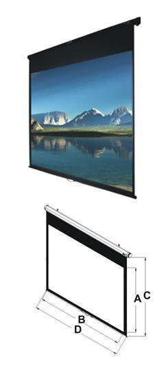 """TELA PROJEÇÃO RETRATIL TBMS150V (305x229cm) 150"""" 4:3 Trace Board"""