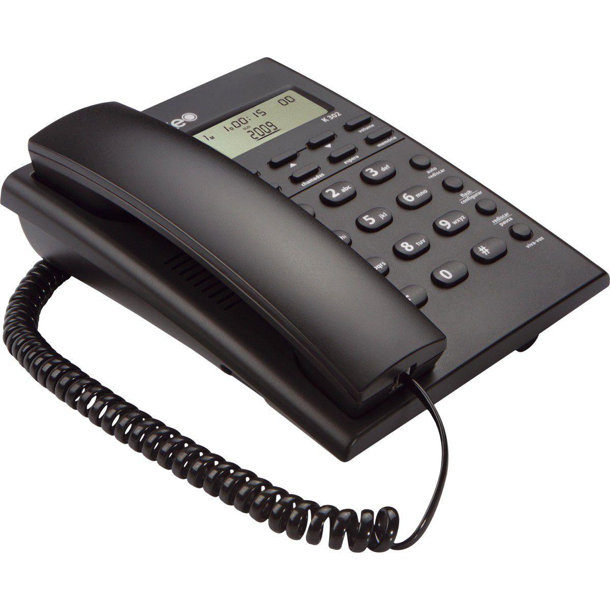 Telefone C/Fio Grafite Keo/ Intelbras