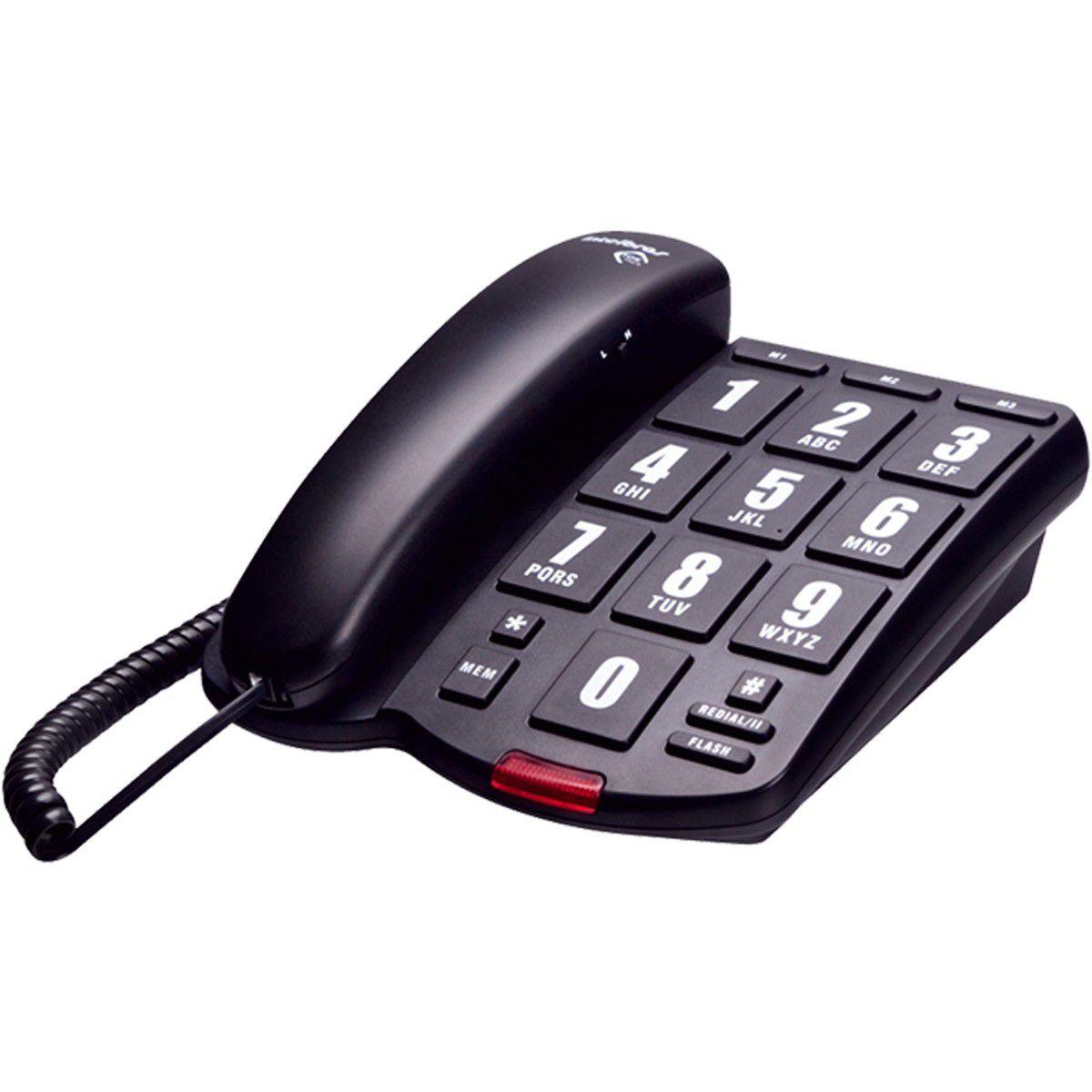 Telefone C/Fio Tok Facil Intelbras