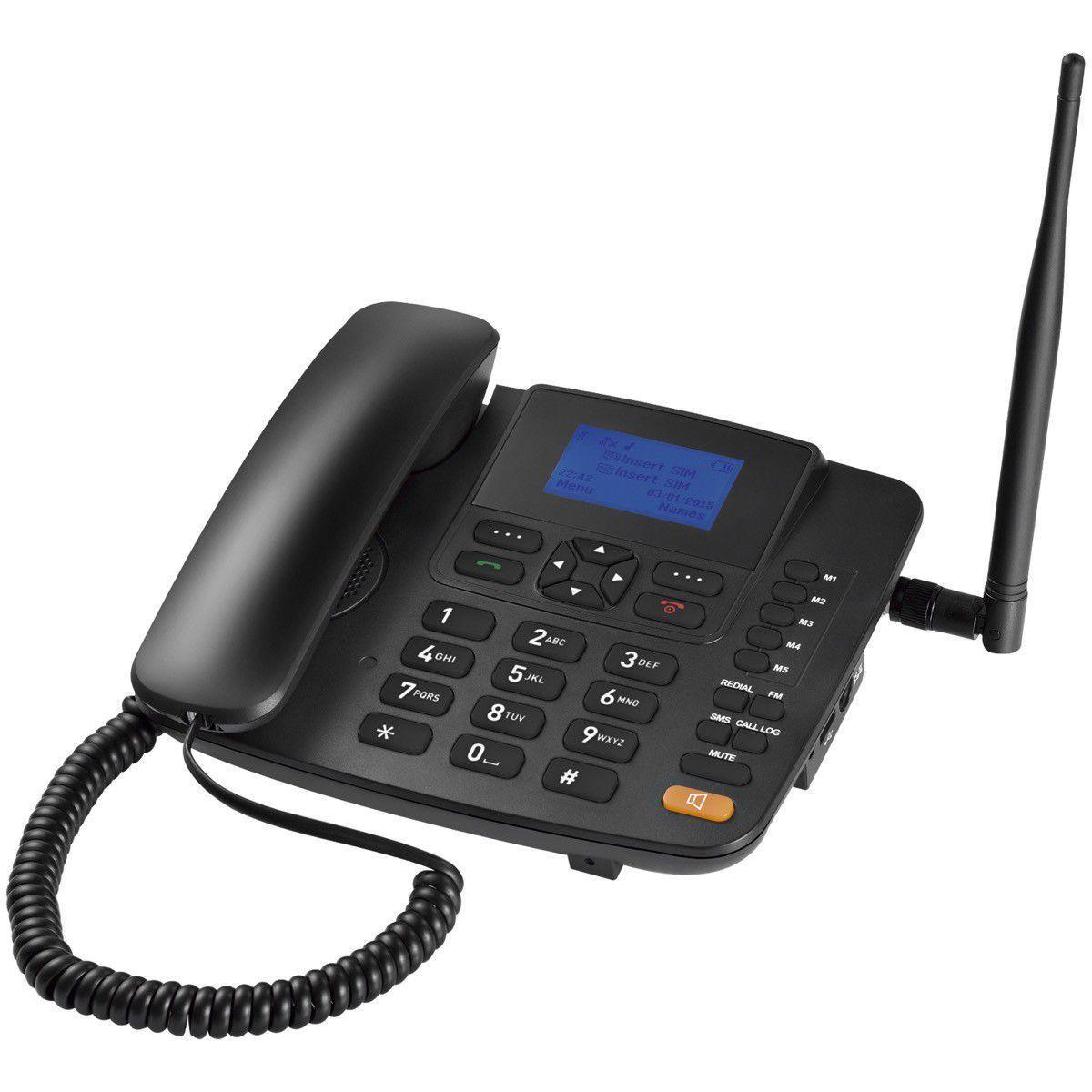 Telefone Celular Rural Gsm C/Fio Dual Chip Multilaser