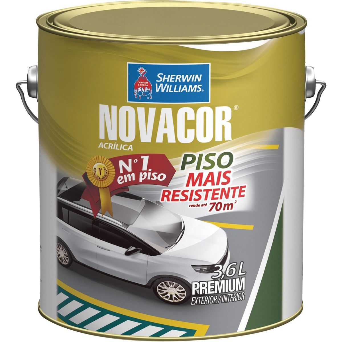 Tinta Piso Novacor 03,6L Vermelho