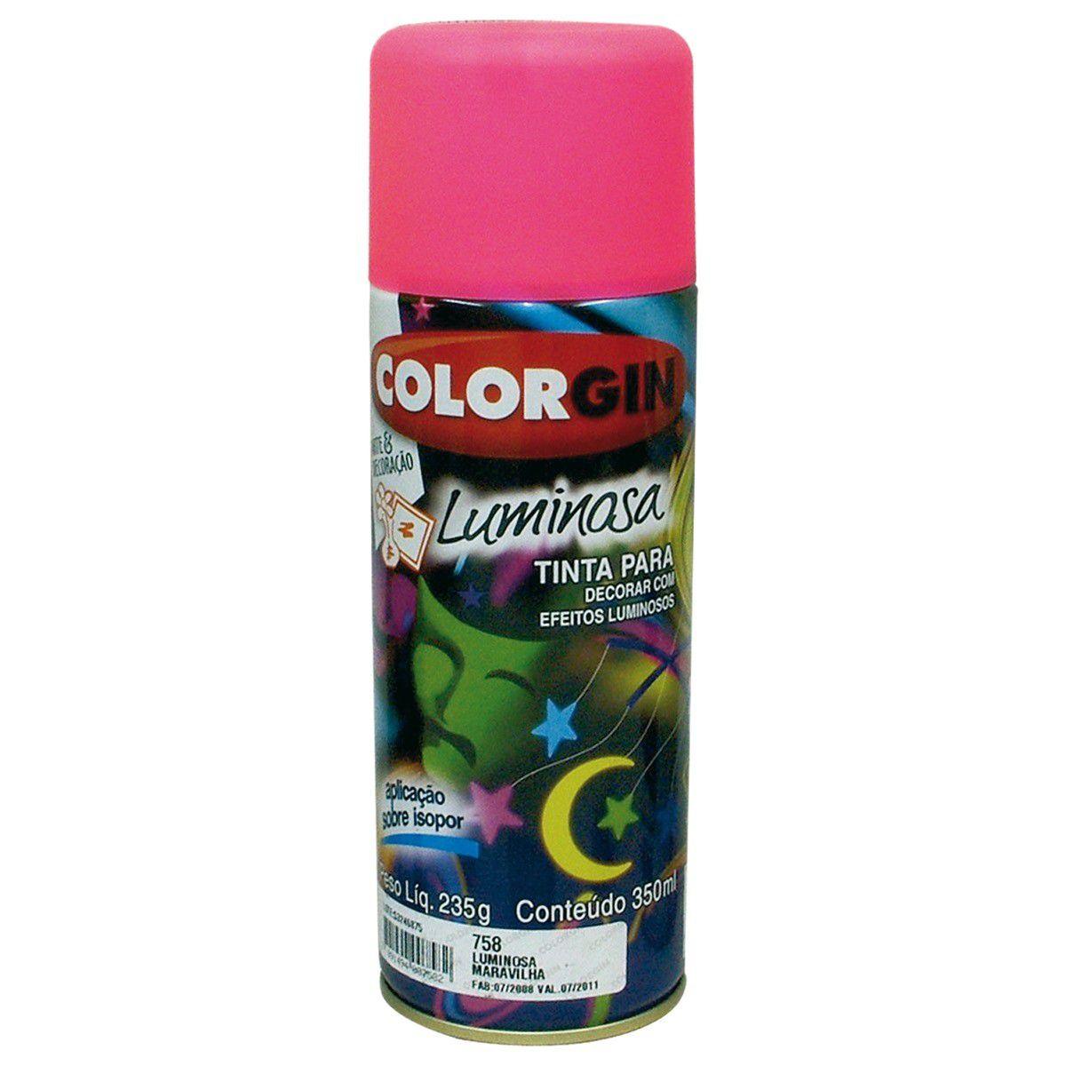 Tinta Spray Colorgin Luminosa Maravilha 350Ml #A