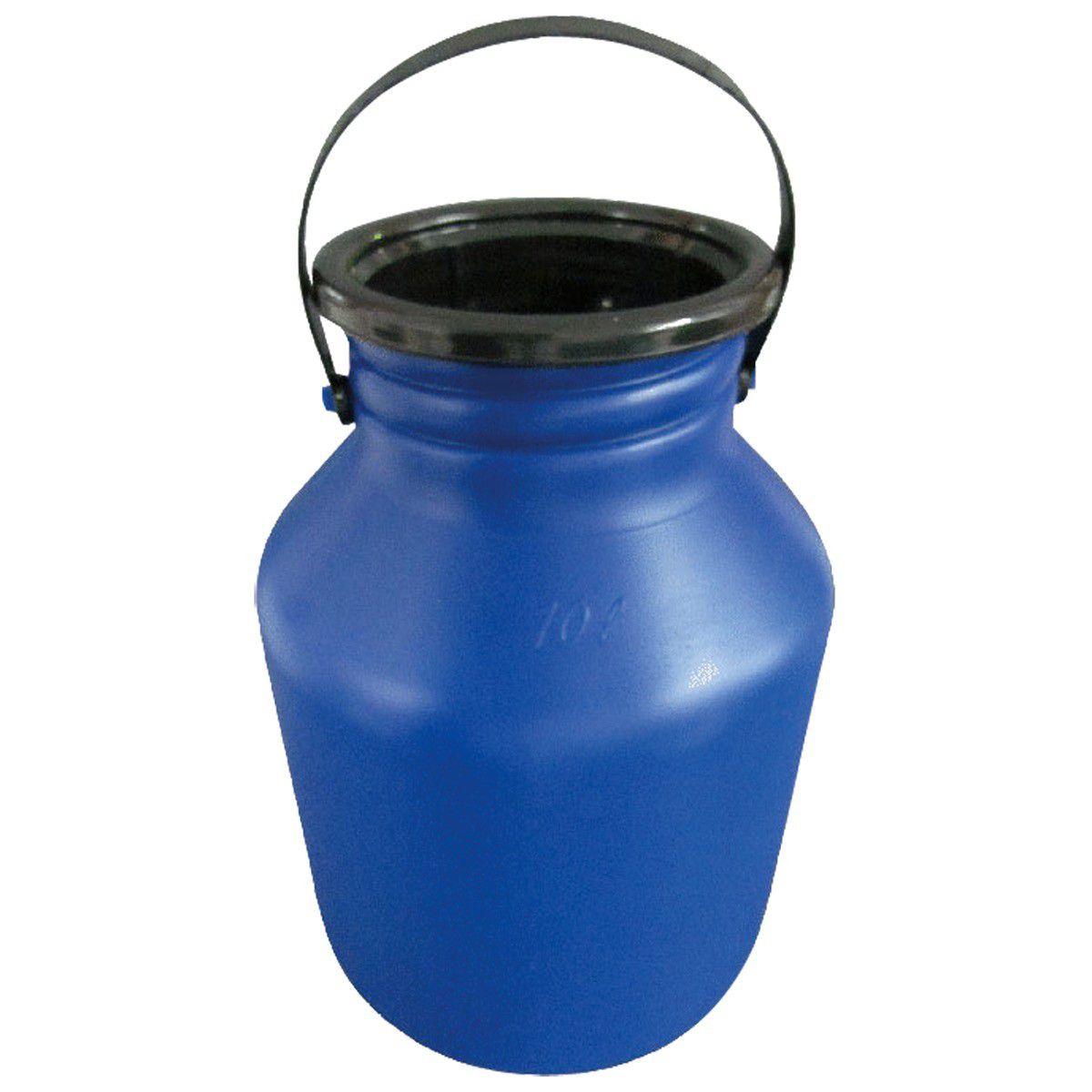Latão Vasilhame Plastico Para Leite 10 Litros Injesul