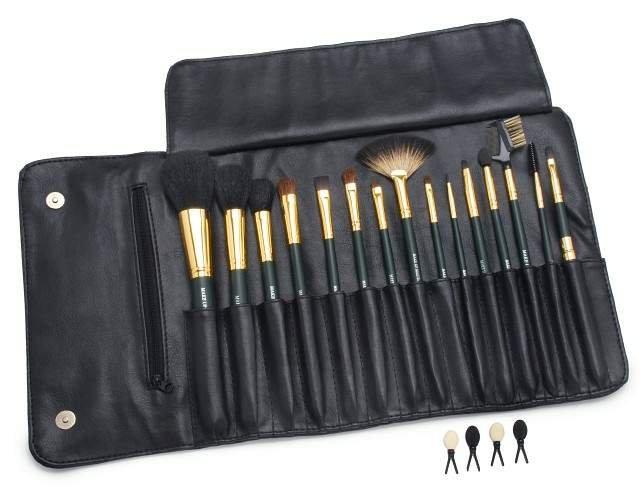 Estojo de Pincéis Profissional para Maquiagem Contém 15 Pincéis - Importado