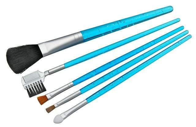 Kit para Maquiagem com 5 Pincéis