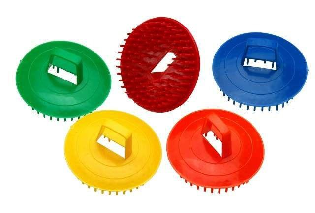 Escova de Plástico Redonda para Massagem Capilar