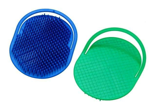 Escova Plástica Oval para Massagem Capilar