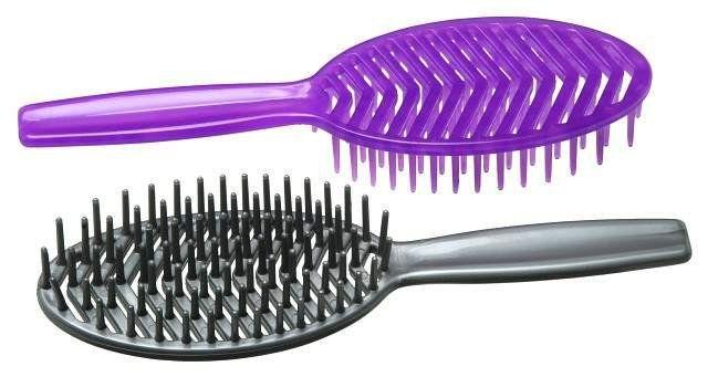 Escova de Plástico para Cabelo - Plastica Mafê