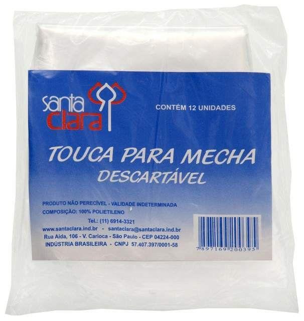 Touca para Mecha Descartável Pacote com 12 unidades
