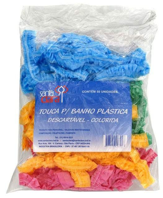 Touca Plástica para Banho Descartável Colorida