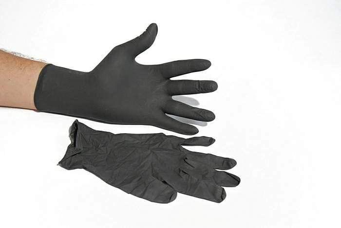 Luva de Latéx Black ou Preta sem Talco Descartável