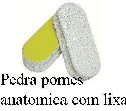 Pedra Pomes Anatômica com Lixa