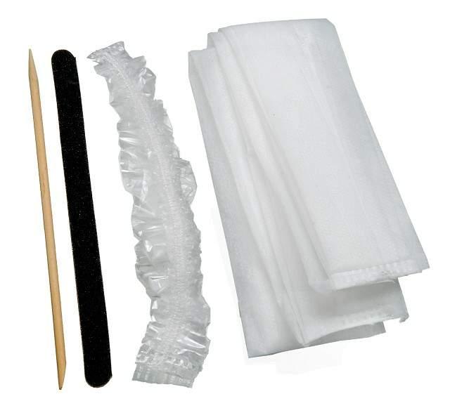 Kit Descartável para Pedicure - Toalha Lixa Palito Protetor