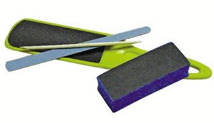 Kit Maravilha - Lixa Pé Anatômica Pequena Lixa Cubo Palito Laranjeira e Lixa Colorida