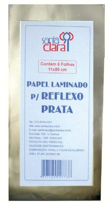 Papel Laminado - Aluminio para Reflexo Prata 11 x 50 cm