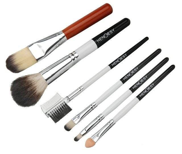 Conjunto de Pincéis para Maquiagem com 6 Peças - Importado