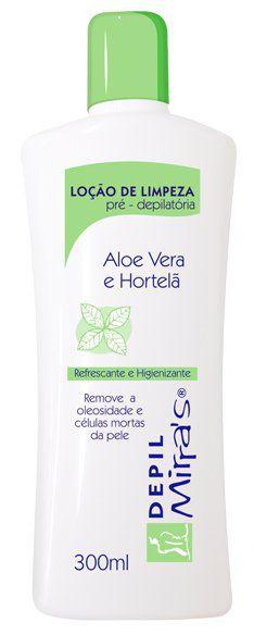 Loção Pré-Depilatória Aloe Vera e Hortelã 300ml - Mirra's