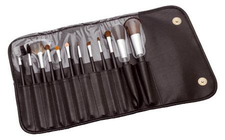 Conjunto / Estojo de Pincéis para Maquiagem com 12 Pincéis - Importado