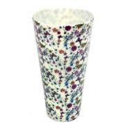 Copo/Pote Expositor Estampado Floral Lilás 750ml - 01 Unidade