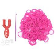 Elásticos Para Fazer Pulseiras Cor Pink 200 Unidades - Santa Clara