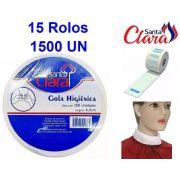 Gola Higiênica - Pacote com 15 Rolos - Total 1500 Golas - Santa Clara