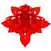 Suporte em Acrílico Vermelho Para Batom e Gloss com 12 Cavidades - Santa Clara